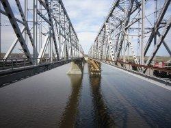 Испытание моста через р. Волга в Зеленодольске