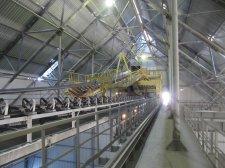 Обследование комплекса по перегрузке серы в морском порту в Усть-луге